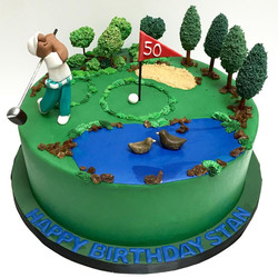 Golf Cake For Stan