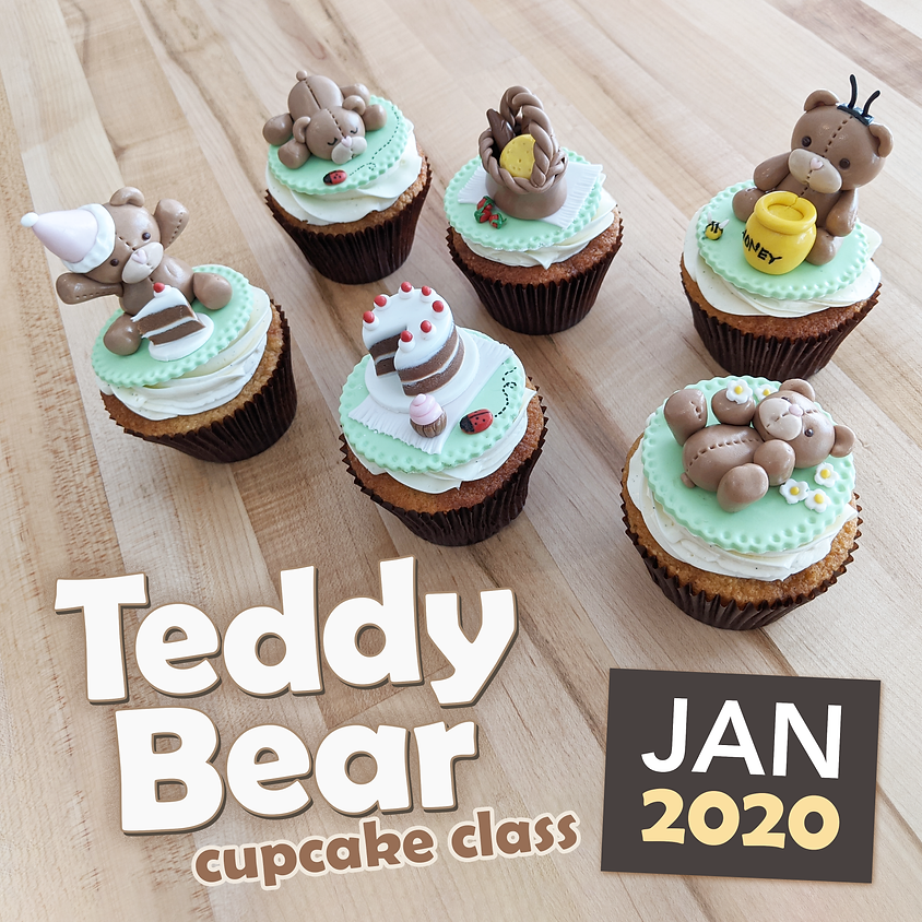 Teddy Bear Cupcakes (age 13+) Jan 18, 2020