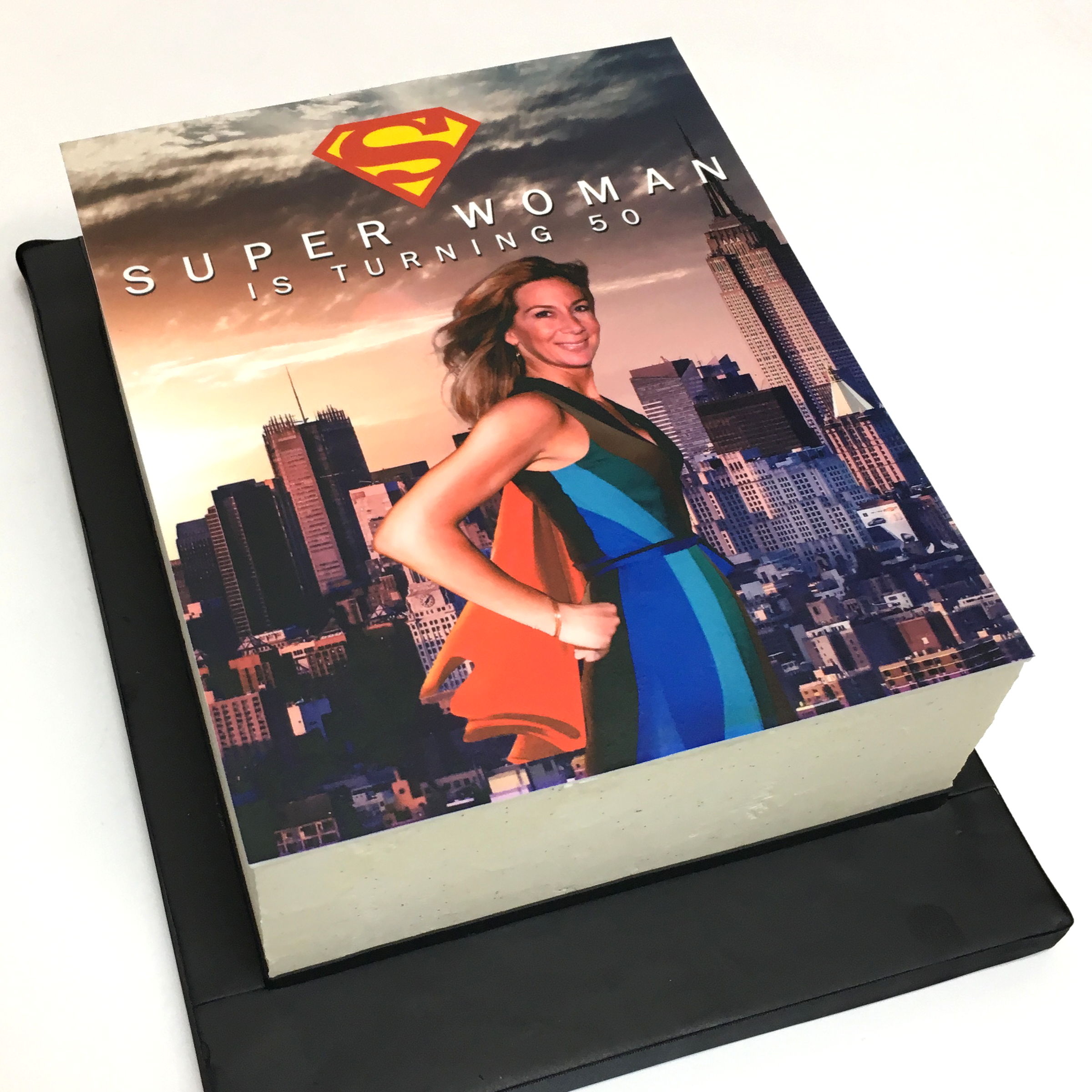 Superwoman Edible Print Cake