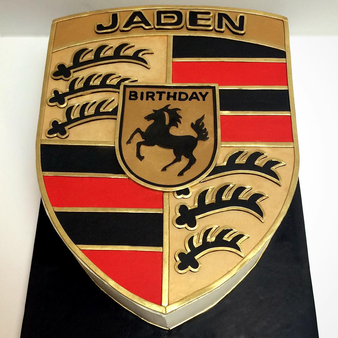 Semi-Sculpted Porsche Cake