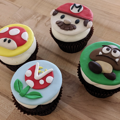 Super mario cupcakes class