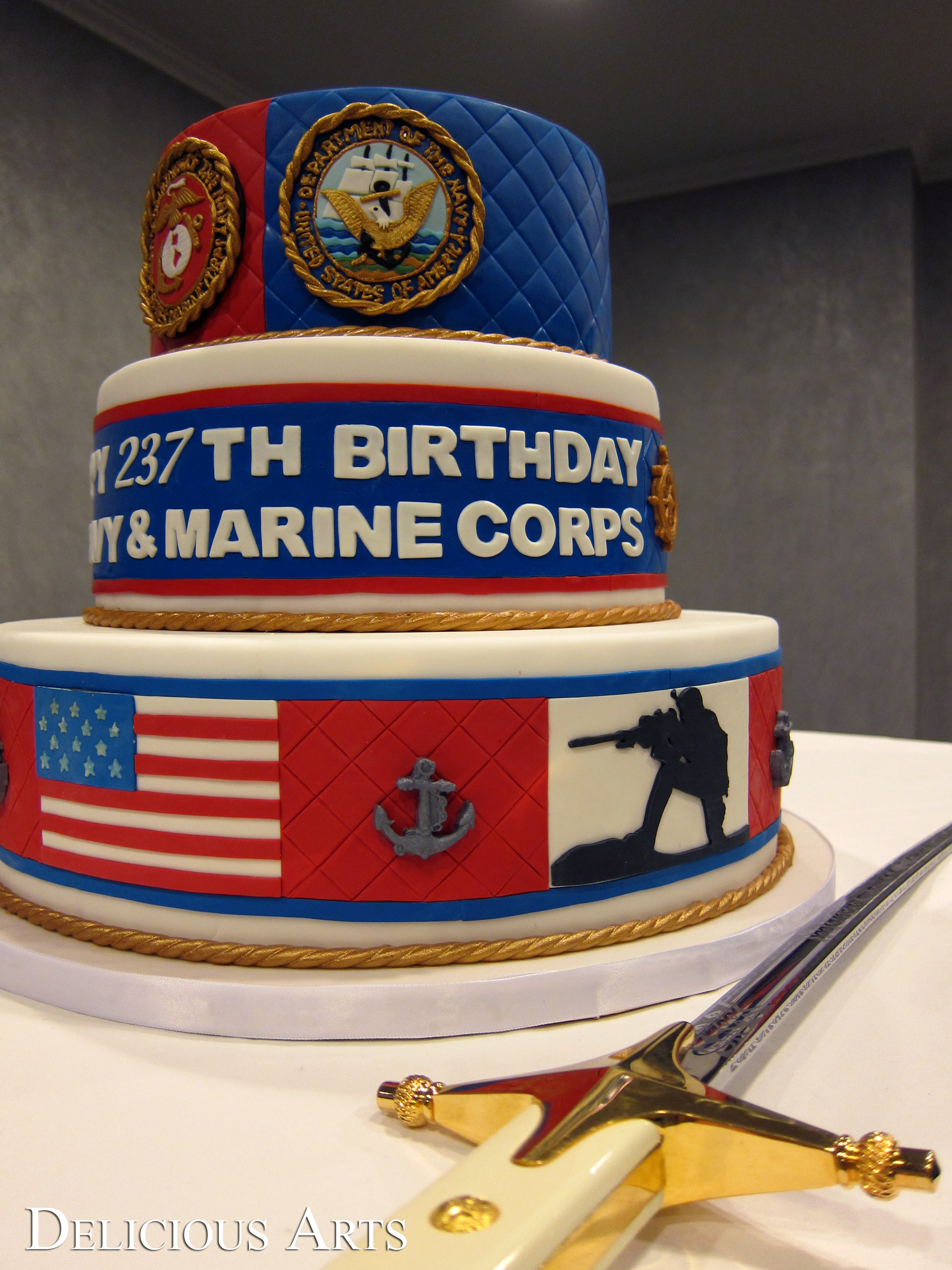 birthday cake los angeles custom cakes by delicious arts los angeles us navy 1765