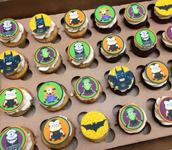 lego batman and minion cupcakes