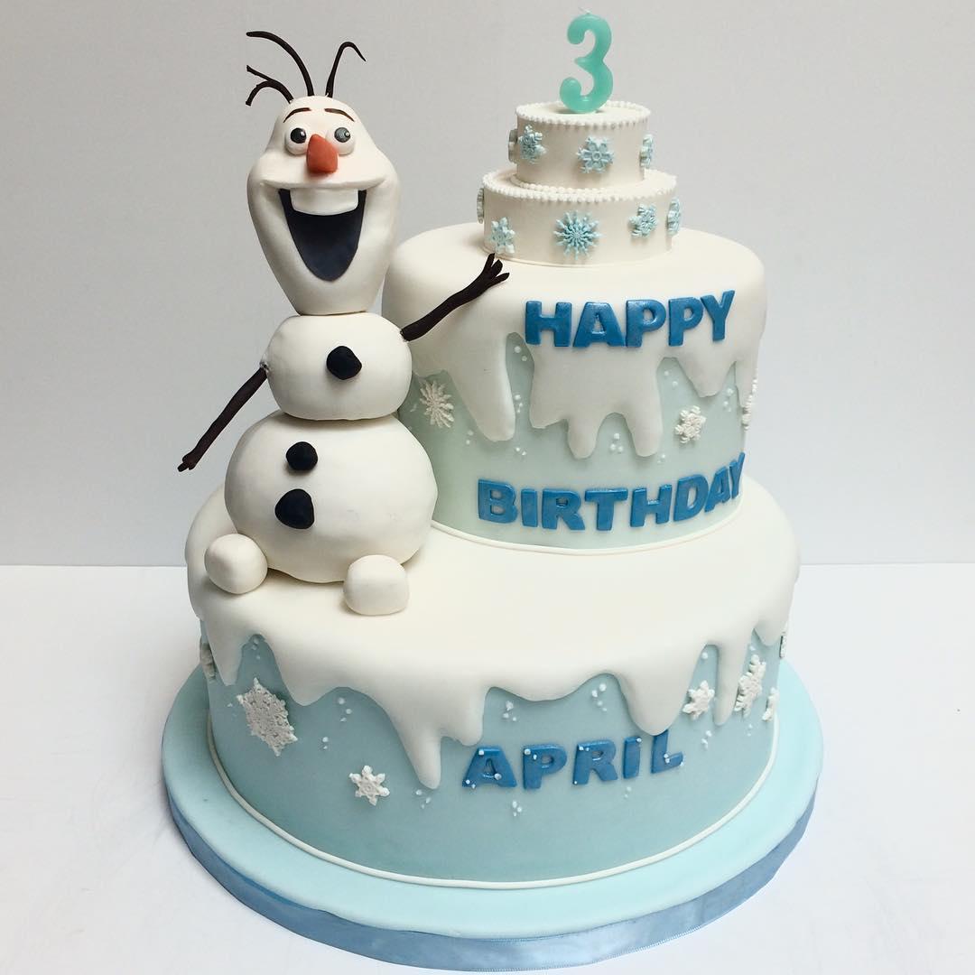 Frozen Olaf Cake