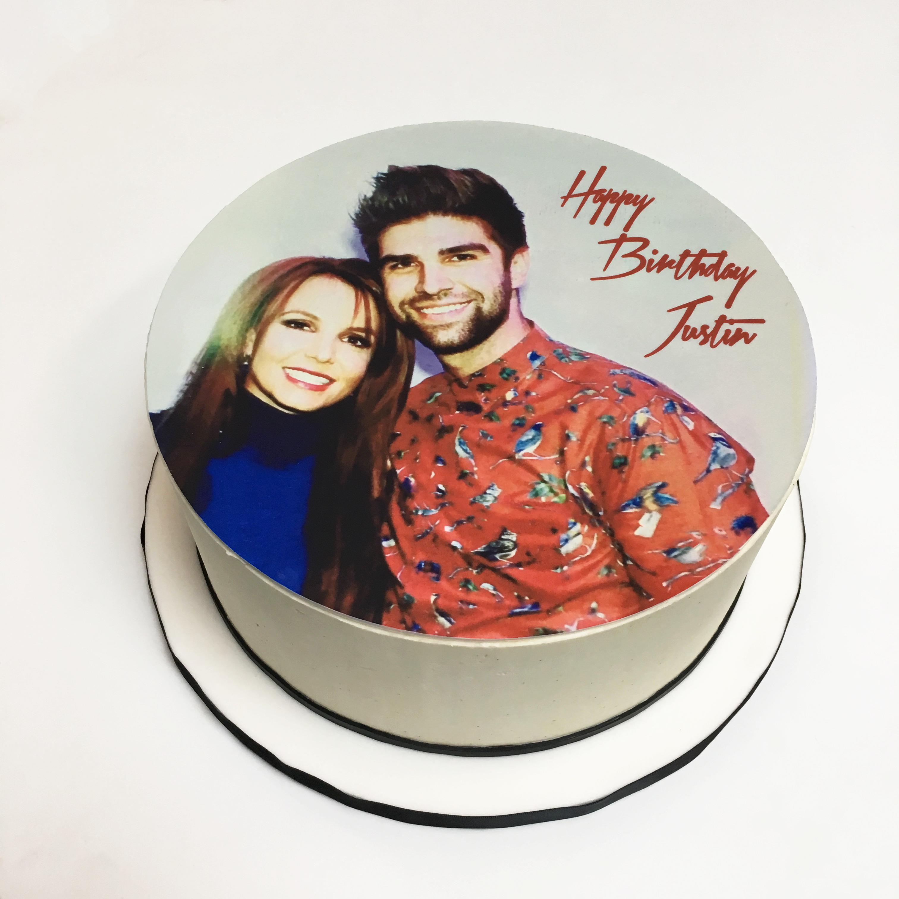 Justin's Edible Print Cake