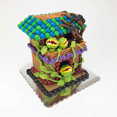 Intermediate Haunted Gingerbread House