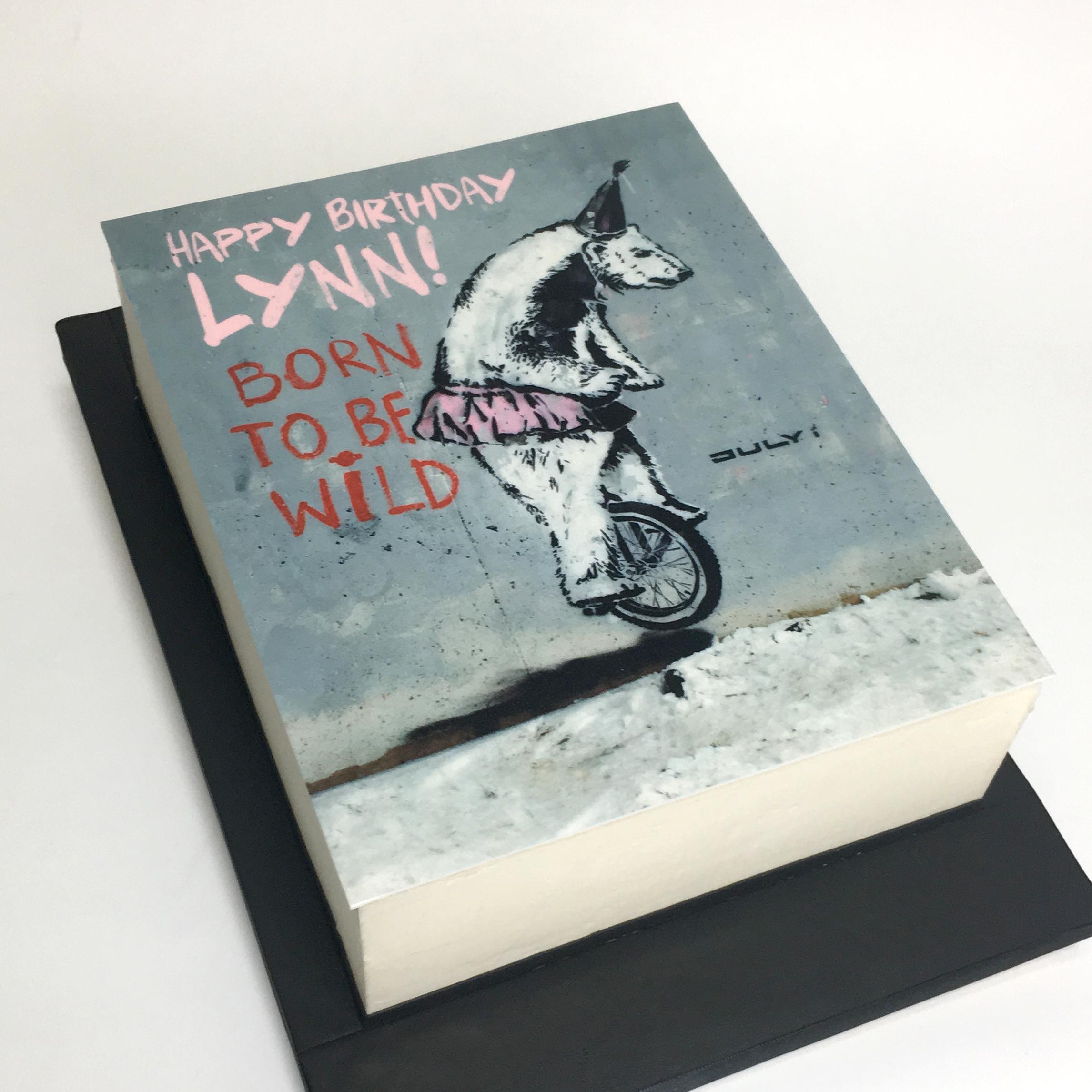 banksy edible print cake