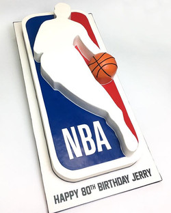 Jerry West's NBA Semi-sculpted cake