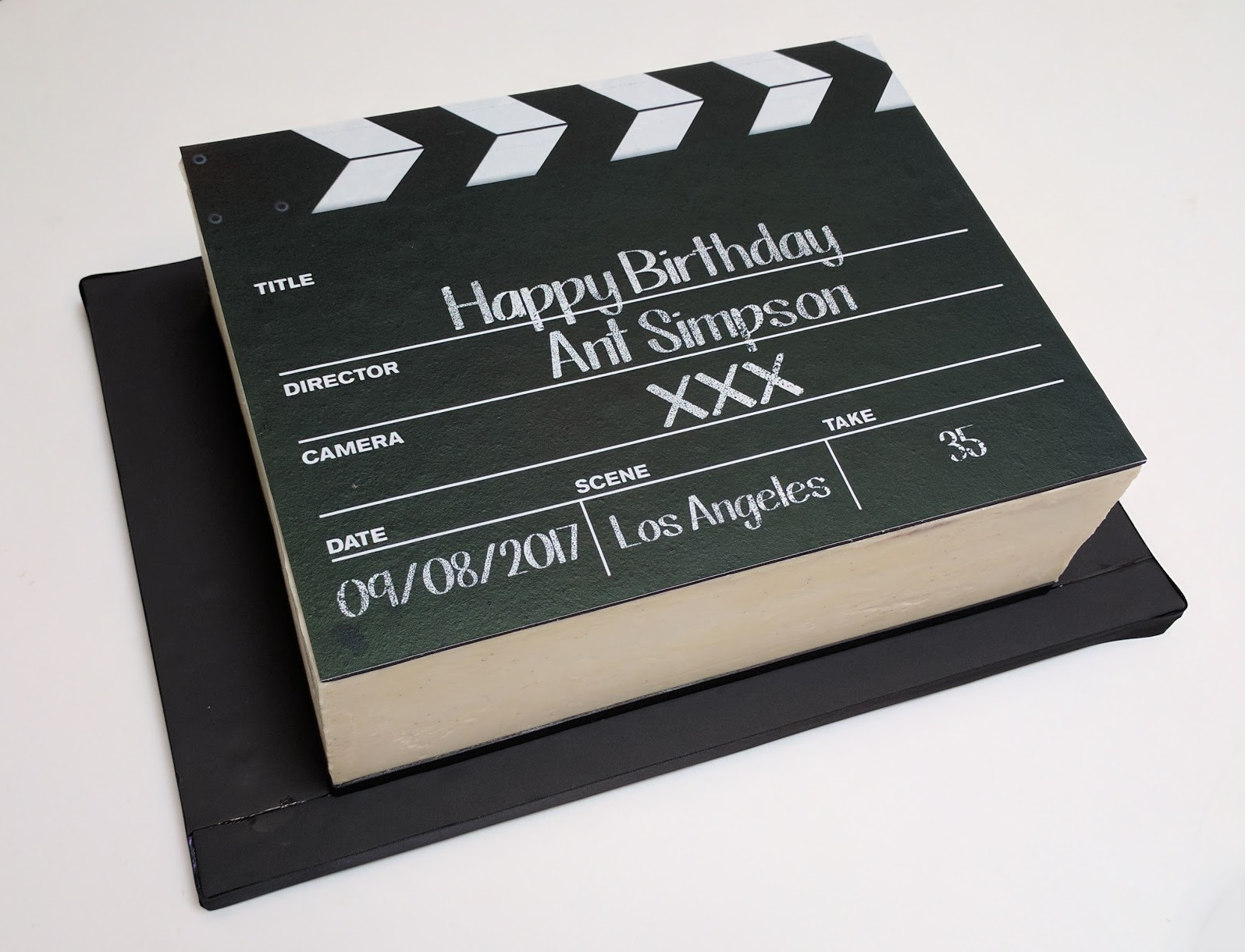 Clapper Board Edible Print Cake
