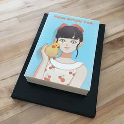 Anime style edible print cake
