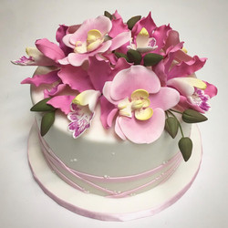 Bouquet of Sugar Orchid Cake