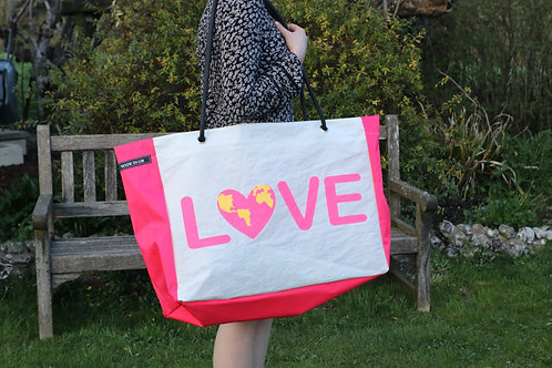 Limited Edition Large Beach Bag - Pink Love