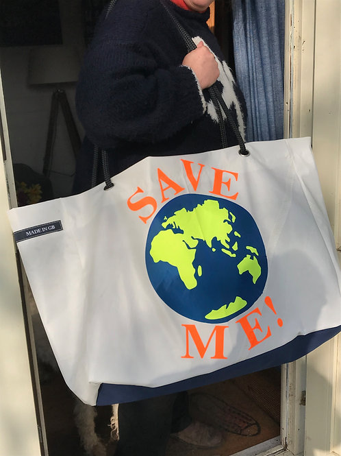 Limited Edition Large Beach Bag - Save Me
