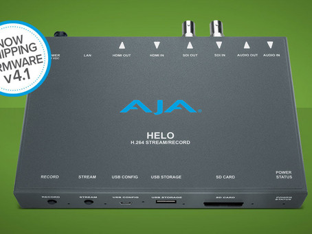 AJA HELO 直播編碼器 v4.1 韌體更新