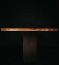 Live Edge Ash and Weathered Steel Conference Table