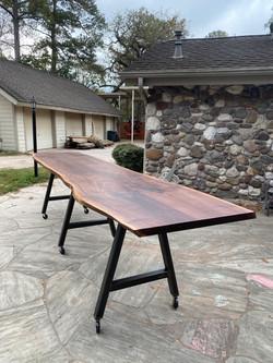 Live Edge Walnut Community Table
