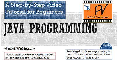 Java Programming video tutorial Patrick Washington