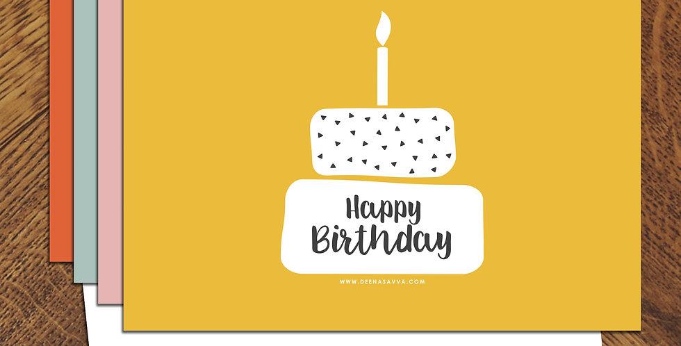 Happy Birthday White Cake