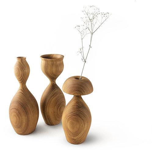 """Trio de vasos ¨Fases de uma flor"""""""