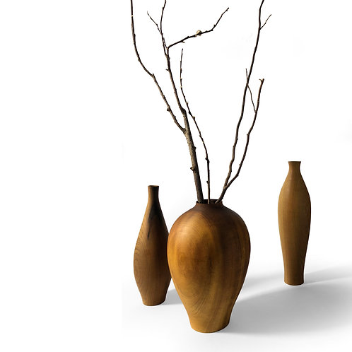 Trio de vasos - Imbuia