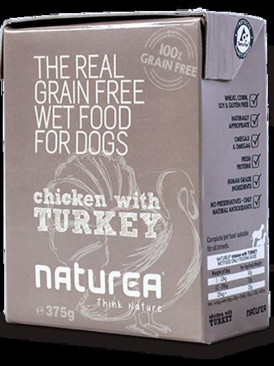 NATUREA CHICKEN&TURKEY 375GR