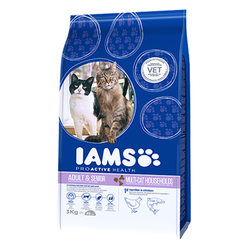 IAMS CAT MULTICAT CHICKEN/SALMON 3KG
