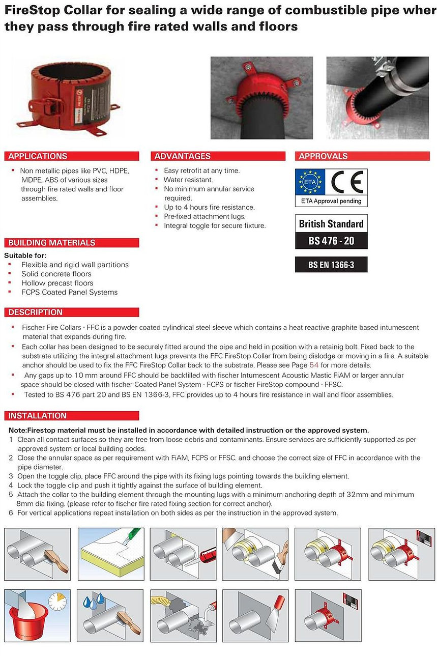 FFC Firestop Collar