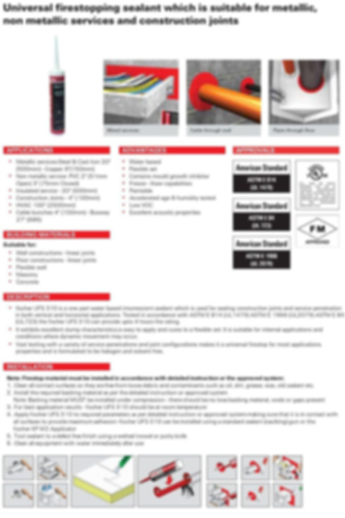 UFS 310 Universal Fire- Stopping Sealant