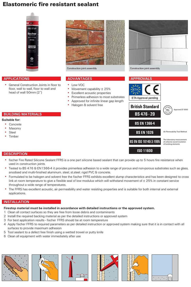 FFRS Fire Rated Silicone Sealant