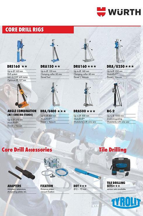 Core Drill Rigs & Accessories