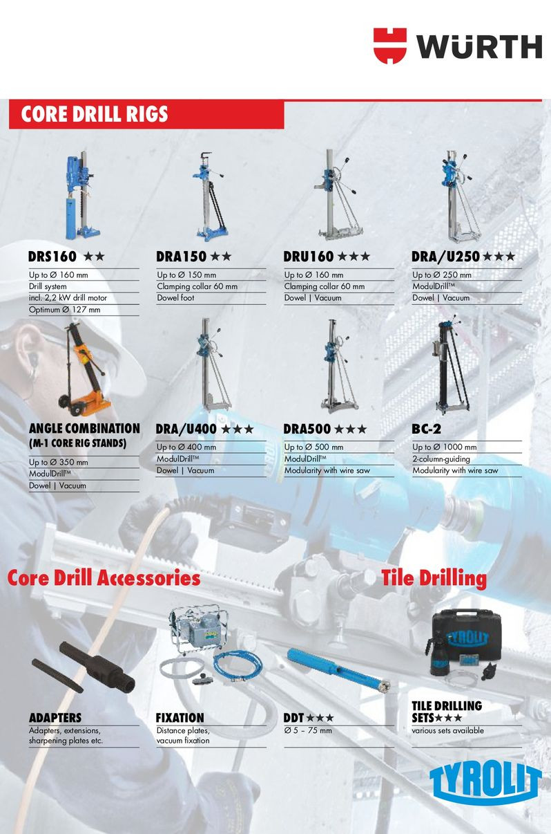 Core Drill Rigs & Accessories