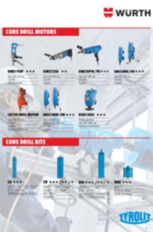Core Drill Motors & Bits
