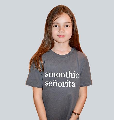 Children's Unisex Round Neck Smoothie Senorita Slogan T-Shirt