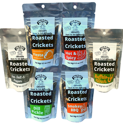 12-Pack Roasted Cricket Variety