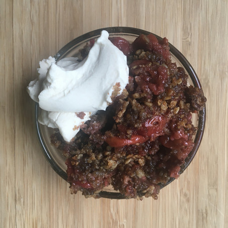 Gluten Free Cherry Crumble