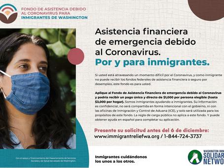 Por y Para Inmigrantes: asistencia financiera de emergencia debido al Coronovirus.