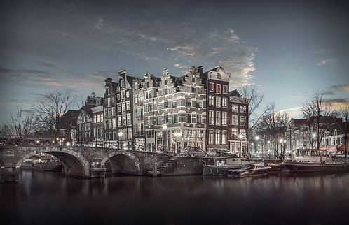 The Light Above Brouwersgracht, Fine Art Photo to buy. Limited edition fine art.