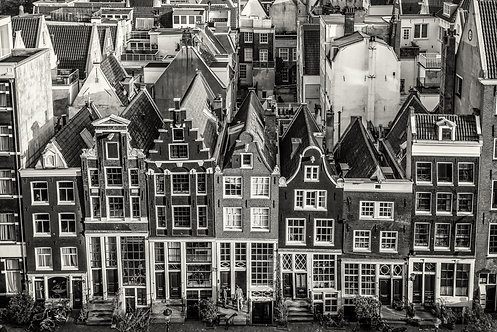 The Light above Amsterdam Houses