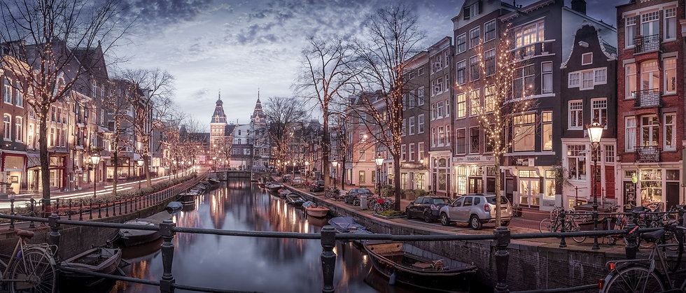 Christmas in Amsterdam -Color Panorama-photo by Kaan Sensoy
