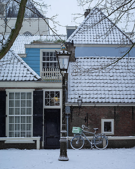 Winter in Amsterdam - color photo by Kaan Sensoy