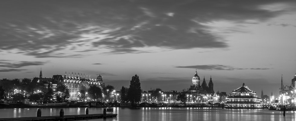 Oosterdok, The Old Harbor of Amsterdam-Black and white- photo by Kaan Sensoy