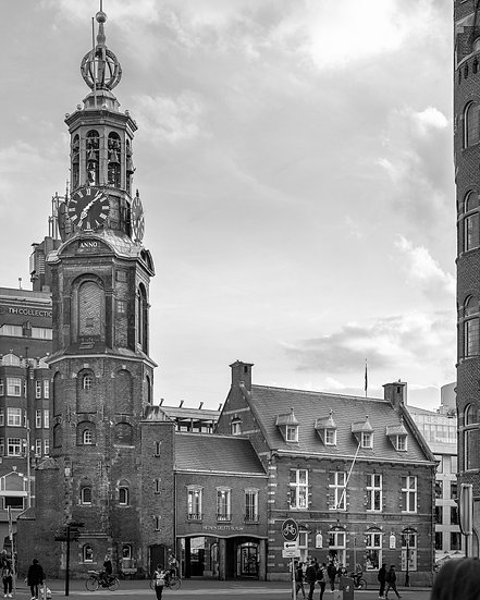 The Muntplein, Amsterdam - Black and White photo by Kaan Sensoy