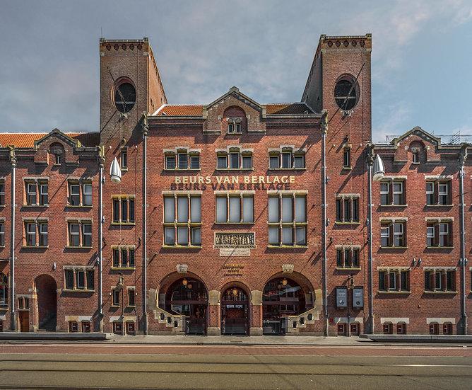 Beurs van Berlage, former stock exchange building in Amsterdam-stock photo-by Kaan Sensoy