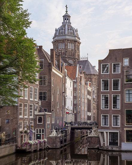 St Nicholas' Church , zeedijk view . Best Amsterdam photos.