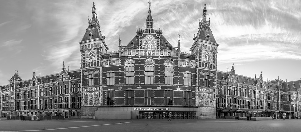 Amsterdam Centraal Station-Black and white photo by Kaan Sensoy