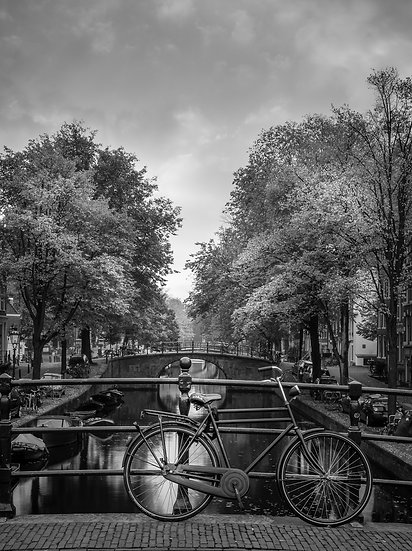 Reguliersgracht, An Amsterdam Canal View B&W photo by Kaan Sensoy