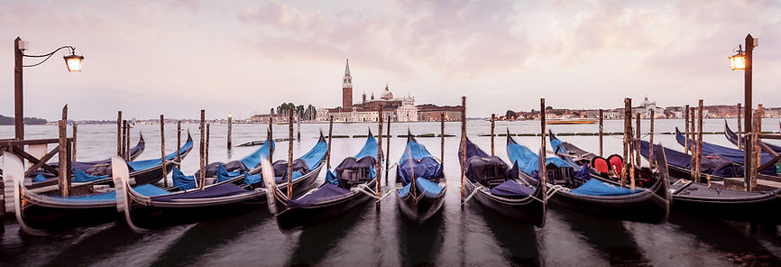 Fine art City Photos by Kaan Sensoy.  This photo part of his Venice Photos's Colletion. All photos in this collection are only 5 Editions to sale. Availble on fine art galleries. Sunset in Venice and Gondols