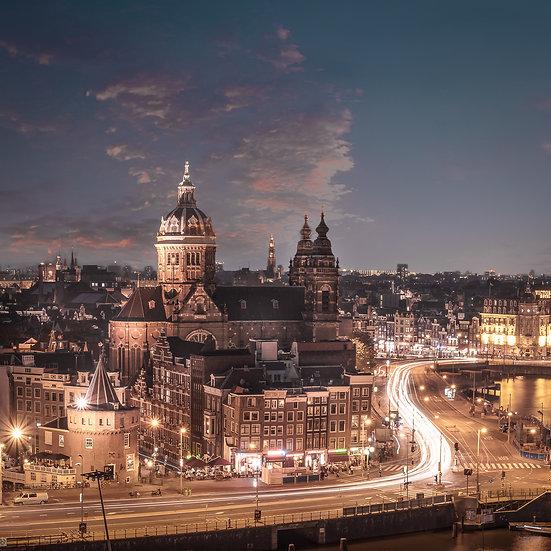 Amsterdam City at Night-photo by Kaan Sensoy
