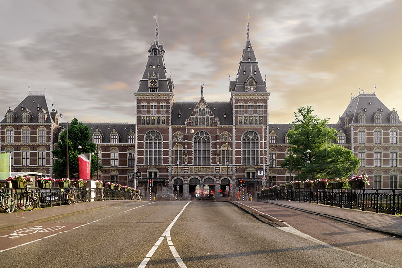 The Rijksmuseum - Front Facade, Amsterdam - photo by Kaan Sensoy