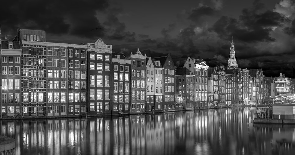 Midnight in Amsterdam - Black and White Photo by Kaan Sensoy